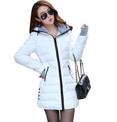 09ecb2cacbf Wadded Jackets 2018 Female New Women s Winter Down Jacket Cotton Slim Women  Down Parka Ladies Coat