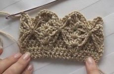 Crochet : Punto Fantasia Mariposa en relieve