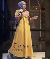 Zanana dress mocca mustard
