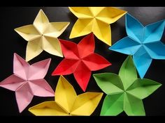 Awesome decoration for gifts - Origami flower Carambola Carmen - Great ideas Valentine's gift - YouTube