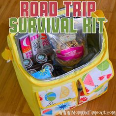 Road Trip Survival Kit - Gift Idea - Mom On Timeout
