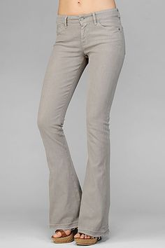 Jiselle Phenomenal Slim Fit Flare with Let Down Hem in Khaki (size 28)
