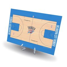 Oklahoma City Thunder Replica Basketball Court Display, Size: Novelty, Grey