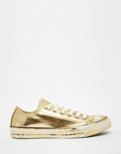 Converse+Gold+Chuck+Taylor+Low+Top+Trainers