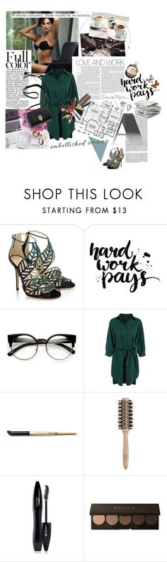 """""""WorkWear with Magic Slippers: Embellished Shoes"""" by tinchy ❤ liked on Polyvore featuring Spy Optic, Craftsman, Jimmy Choo, ZeroUV, Bobbi Brown Cosmetics, Philip Kingsley, Lancôme, Public Library, Hermès and WorkWear"""