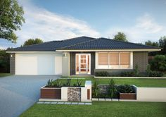 Builders of single and double storey homes, town houses and medium density housing in Victoria, South Australia, New South Wales and Queensland. Facade House, House Facades, Simonds Homes, Storey Homes, Double Garage, Exterior Colors, Home Builders, Townhouse, Entrance