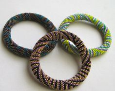 Bead Crochet Pattern:  The Pharoah's Triad of Mini Patterns to the 2nd Power
