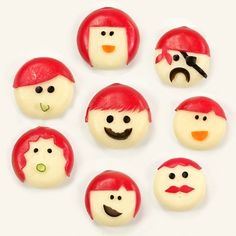 Made from Babybel. My kids love Babybel. Cute Snacks, Cute Food, Good Food, Party Snacks, School Birthday Snacks, School Snacks, School Lunch, Birthday Ideas, Cheese Snacks