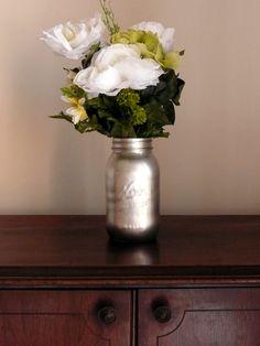 silver mason jar $5 on FB: Beach Blues Cottage Chic Furniture