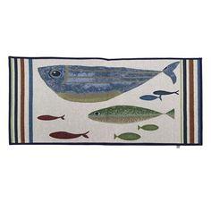 """SET OF FOUR WALL ART /""""FISH TALES/"""" MINIATURE DECORATIVE WALL PLATES"""