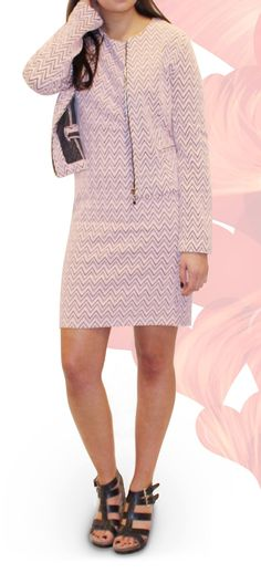 Zigzag shift dress €36.50 available in white and blue - This item is only available to buy at our store in Amsterdam.  www.woontante.com