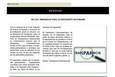 No hay inmunidad para el ex-presidente en Panamá #Transparencia #Revista400