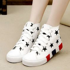 """Fashion stars canvas shoes Cute Kawaii Harajuku Fashion Clothing & Accessories Website. Sponsorship Review & Affiliate Program opening!this shoes is adorable, and they have more adorable shoes, just visit page, also use this coupon code """"Fanniehuang"""" to get all 10% off shop now for lowest price"""