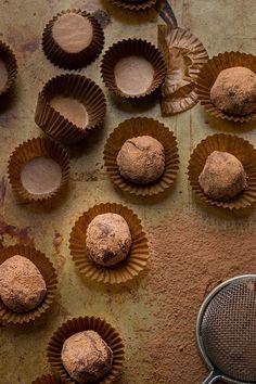 Trufas de chocolate y vino