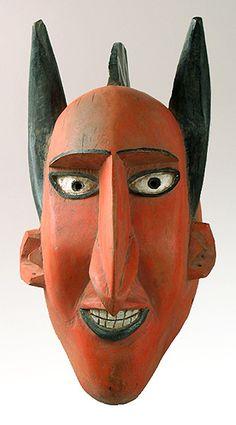 Devil mask, village of Markala, Bozo people Mali
