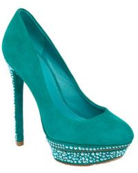 B Brian Atwood Francoise Green Suede -