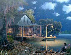 Swamp+Paintings | bayou-moon-bayou-scene-painting-al-hogue.jpg