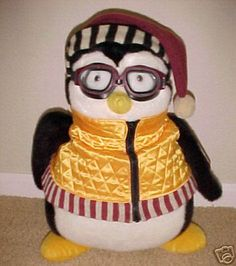 Hugsy. Joey's bedtime penguin pal. I soo have to get one of these