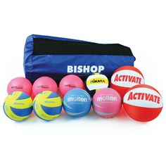 VOLLEYBALL INTRODUCTORY KIT contains s mix of differently weighted volleyballs that are ideal to assist with the introduction the basics of volleyball and will aid in the natural skill progression of the player. Supplied complete with ball sack.