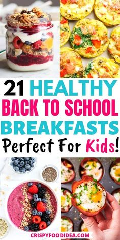 Healthy Breakfast For Kids, Healthy Eating For Kids, Healthy Eating Recipes, Healthy Snacks, Kids Breakfast Recipes, Healthy Recipes For Kids, Breakfast Kids, School Breakfast, Easy Meals For Kids