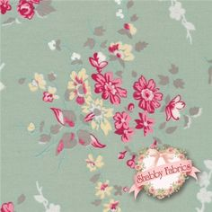 """Quilter's First 30794-70 By Lecien : Quilter's First is a collection by Lecien.  100% cotton.  43/44"""" wide.  This fabric features large pink floral bouquets on a blue background.  Made in Japan."""
