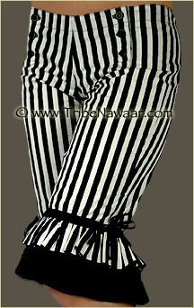 Tribe Nawaar Wild Card Black And White Stripe Retro Bloomers Knickers  ---  want these for under a pirate outfit!!