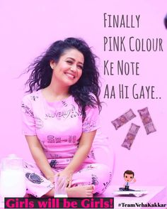 "Neha Kakkar latest photos in Pink Lovely Dress ""Pink Color Ke Note"" Lovely Dresses, 15 Dresses, Boat Girl, Funny Memes Images, Neha Kakkar, Mehandi Designs, Girly Quotes, Bollywood Celebrities, Best Actress"