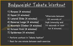 All it takes is 30 minutes and some space to do this quick, full-body Tabata workout. No equipment necessary.