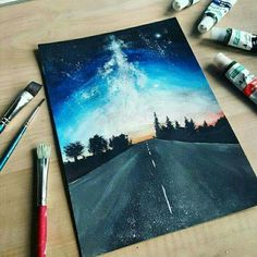 Ideas For Eye Artwork Draw Concept Art - Acrylic art - Cute Canvas Paintings, Canvas Art, Tree Paintings, Mini Toile, Eyes Artwork, Galaxy Art, Pastel Art, Pastel Drawing, Painting & Drawing