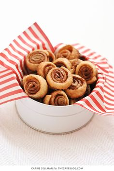 Pie Crust Cookies! Pie crust coated in cinnamon sugar and rolled into pinwheel cookies for the holidays. A Christmas cookie tradition. | Carrie Sellman for TheCakeBlog.com