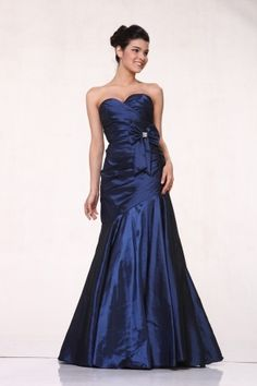 Blue Mermaid/Trumpet Sweetheart Long/Floor-length Midnight Prom Dress PD1044