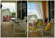 Want to add curtains on the front porch this summer.