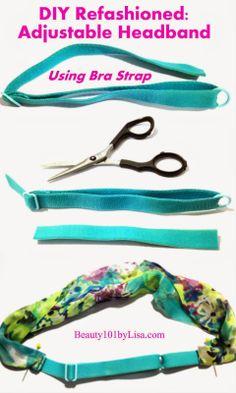 DIY: Adjustable Headbands - Click on Pin to see HOW TO. Headband Tutorial, Headband Pattern, Diy Headband, Headbands, Fabric Jewelry, Hair Jewelry, Fabric Crafts, Sewing Crafts, Diy Hair Bows