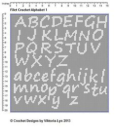 Ravelry: FREE-Filet Crochet PATTERN Alphabet 1 by Viktoria-Lyn