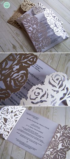 Zaproszenia ślubne www.facebook.com/zuzdesign