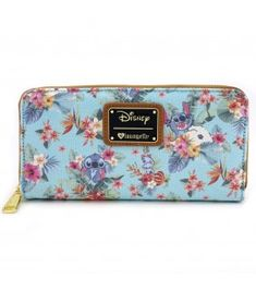 Loungefly x Stitch Tropical Floral Print Wallet - Disney - Brands Disney Handbags, Disney Purse, Wallets For Girls, Cute Wallets, Kawaii Accessories, Mode Inspiration, Fashion Bags, Purses And Bags, Stitch Drawing