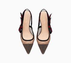 997db060bf2 J Adior dotted Swiss high-heeled shoe - Dior Slingback Shoes
