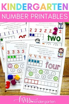 Practicing numbers can be fun with these cute and fun printable worksheets! Students will love using the images to create numbers 1-10 and even teen numbers! Use them in math centers or to start the day with morning work! They are also great for homework. Miss Kindergarten, Kindergarten Math Activities, Numbers Kindergarten, Printable Numbers, Printable Worksheets, Printables, Base Ten Blocks, Teen Numbers, Teaching Numbers