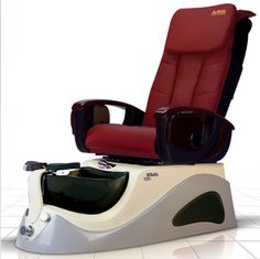 Argento SE Spa Pedicure Chair - The ANS Argento SE is a stylish stainless steel pedicure spa that features beautiful glass sink bowl. Spa Pedicure Chairs, Pedicure Spa, Manicure And Pedicure, Spa Chair, Massage Chair, White Pedicure, Nail Salon Furniture, Spa Lighting, Spray Hose