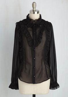 Victorian Twist Top | Mod Retro Vintage Short Sleeve Shirts | ModCloth.com