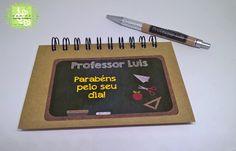 Caderneta e Caneta Dia do Professores