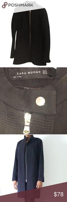 ZARA Pea Coat Black Zara Pea Coat Zara Jackets & Coats Pea Coats