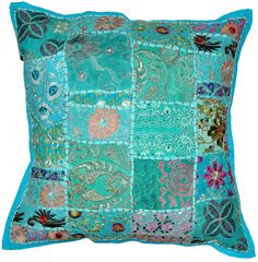 20 x 20 XL Blue Decorative throw pillows meditation by BeingGypsy, $18.99