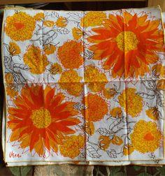 Vera Neumann Napkins in Bright orange and by fridayfindsmama, $38.00