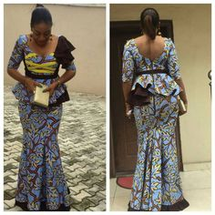 Cool Skirt And Blouse Styles aso ebi styles with ankara... Check more at http://24shopme.tk/fashion/skirt-and-blouse-styles-aso-ebi-styles-with-ankara/