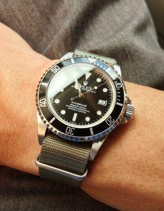 Rolex Sea-Dweller on grey NATO