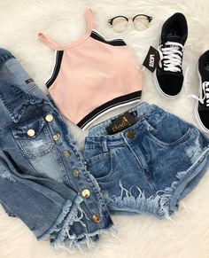Sweet outfit for summer !, Sweet outfit for summer ! - Harvey Clark Sweet outfit for the summer ! Cute Summer Outfits, Teen Fashion Outfits, Cute Casual Outfits, Outfits For Teens, Stylish Outfits, Girl Fashion, Outfit Summer, Girl Outfits, Fashion Mode