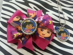 Dora bow 5.50 and Dora necklace 5.00