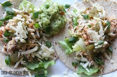 Crock Pot Chicken Tacos!  The perfect supper for busy nights!
