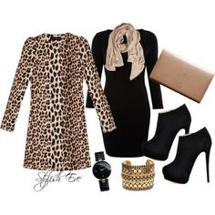 Leopard Winter 2013 Outfits for Women by Stylish Eve
